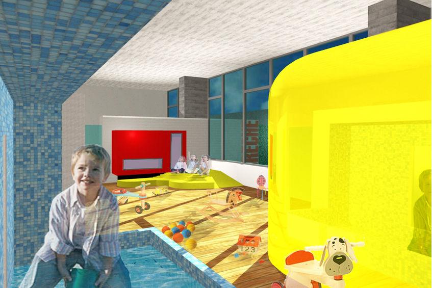 cr che centre commercial belle epine thiais 94 cr ches projet architecte. Black Bedroom Furniture Sets. Home Design Ideas